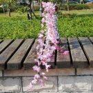 Silk Artificial Flower Vine Leaf Garland Plant Foliage Rattan Home Wedding Decor (color  pb