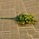 1 Bouquet Silk Artificial baby's breath Gypsophila Flower Wedding Home Decor (COLOR YELLOW