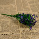1 Bouquet Silk Artificial baby's breath Gypsophila Flower Wedding Home Decor (COLOR DARK PURPLE