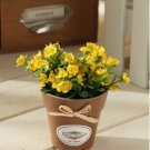 1 Pc Mini Country Lily Artificial Silk Flower Potted Plant Home Floral Decor (COLOR YELLOW