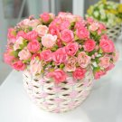 3 x Bouquet Rose Artificial Silk Flowers Home Garden Wedding Party Floral Decor (PINK