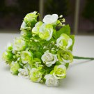 3 x Bouquet Rose Artificial Silk Flowers Home Garden Wedding Party Floral Decor (WHITE