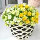 3 x Bouquet Rose Artificial Silk Flowers Home Garden Wedding Party Floral Decor (YELLOW