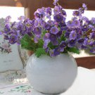 3 X Bouquet Artificial Campanula Silk Flowers Leaf Home Wedding Bridal Party Decor(COLOR PURPLE