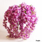 3 X Bouquet Artificial Wisteria Silk Flower Home Party Wedding Garden Floral Decoration (purple