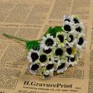 1 Bunch 30 Heads Artificial Sunflowers Silk Daisy Bouquet Flowers Home Decor (white