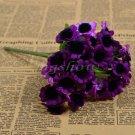 1 Bunch 30 Heads Artificial Sunflowers Silk Daisy Bouquet Flowers Home Decor (purple