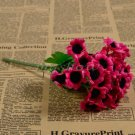1 Bunch 30 Heads Artificial Sunflowers Silk Daisy Bouquet Flowers Home Decor (red