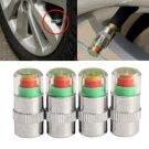 4Pcs Car Auto Tire Air Pressure Valve Stem Caps Sensor Indicator Alert Bike      SKU:54697.01