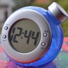 Eco-friendly Water Power Digital LCD Display Table Clock (blue
