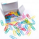 Paper Clips Coated Paperclip Stationery 100Pcs Mixed Color 29mm Pin Vinyl
