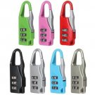 5 x Mini 3 Digit Combination Security Travel Luggage Suitcase Padlock Portable
