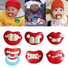 1x  Orthodontic Soother Nipples Lips Baby Teether Pacy Dummy Pacifiers