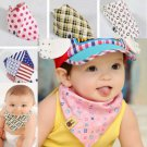 3X Baby Toddler Bandana Bibs Saliva Towel Dribble Triangle Soft Cotton Headscarf