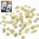 100pcs Nice Gold Snowflake Christmas 3D Nail Art Stickers Decals Decorations New
