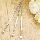3Pcs Stainless Steel Ear Pick Wax Curette Remover Cleaner Care Tool EarPick