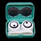 1x 3D Cute Cartoon Eye Shape Contact Lens Box Case Container Holder Soak Storage