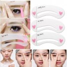 3 Style Women Magic Eye Brow Class Drawing Guide Eyebrow Stencil Card Template