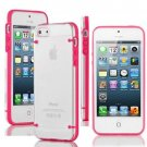 Ultra Thin Transparent Gel Skin Hybrid Case Cover Luminous Glow For iPhone 5s (COLOR RED
