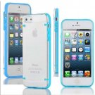 Ultra Thin Transparent Gel Skin Hybrid Case Cover Luminous Glow For iPhone 5s (COLOR BLUE