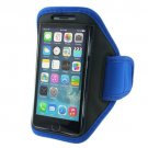 Soft Belt running armband sport case waterproof Pouch Holder Armband for iPhone6(COLOR BLUE