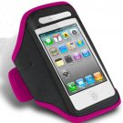 Soft Belt running armband sport case waterproof Pouch Holder Armband for iPhone6(COLOR HOT PINK