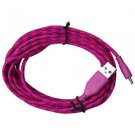 3 M Braided Fabric Micro USB Data&Sync Charger Cable Cord For Cell Phone# 6