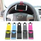Universal Car Steering Wheel Bike Clip Mount Holder For iphone Phone Samsung GPS(COLOR PINK