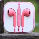 3.5mm Earphone Earbud Headset/Remote Mic For Apple iPhone  volume control (PINK