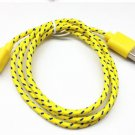 8pin Braided Usb Data Sync Cable Cord Fit for iphone5s 5c IOS 7.1 (YELLOW