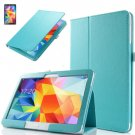 """PU Leather Folio Case Stand Cover For Samsung Galaxy Tab 4 10.1"""" SM-T530 Tablet(COLOR BLUE"""