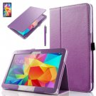 "PU Leather Folio Case Stand Cover For Samsung Galaxy Tab 4 10.1"" SM-T530 Tablet(COLOR PURPLE"