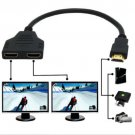 HDMI 1 to 2 Splitter Cable Male to Female M/F 1 in 2 out Adapter Converter