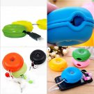 2x New Turtle Cable Cord Organizer Wrap Wire Winder Earphone Headphone Holder