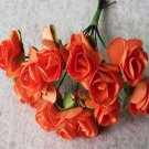 144PCS Artificial Paper Rose Flower Buds Mini Bouquet Party Wedding Decoration(COLOR ORANGE