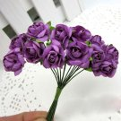 144PCS Artificial Paper Rose Flower Buds Mini Bouquet Party Wedding Decoration(COLOR PURPLE