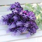 1x Artificial Beautiful Lavender Bouquet Silk Flower Home Party Wedding Decor(COLOR PURPLE