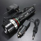 UltraFire CREE 2000LM XM-L T6 ZOOMABLE LED Flashlight Torch Lamp + 2x Charger