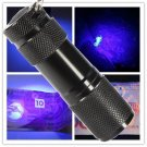 UV Ultra Violet Blacklight 9 LED Flashlight Torch Light Invisible Ink Marker