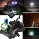 2000 Lm CREE XM-L T6 LED 3 Modes Headlamp Headlight 2X18650 Battery +AC Charger