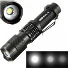 UltraFire 2000lm CREE XML T6 LED ZOOMABLE Focus Flashlight Torch 18650 Black