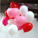 50Pcs Heart-Shaped Latex Balloons Home Wedding Party Birthday Decoration 10