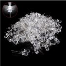 100pcs LED 5mm White Water Clear Ultra Bright F3 Light Bulb Emitting Diode Round