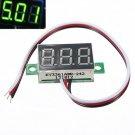 Mini DC 0.1-30V LED Panel Voltage Meter 3-Digital Display Voltmeter Motorcycle