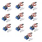 10PCS SG90 Mini Micro Servo 9g For Trex 450 RC Airplane Helicopter Car Boat+Horn