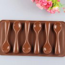 Silicone Spoon Shape Chocolate Cake Mould Sugar Candy Decorating Baking Mold