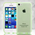 Clear Jelly Color Plain TPU Gel Soft Rubber Case Cover Skin for Apple iPhone 5C( COLOR GREEN
