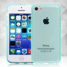 Clear Jelly Color Plain TPU Gel Soft Rubber Case Cover Skin for Apple iPhone 5C( COLOR MINT GREEN
