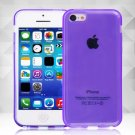 Clear Jelly Color Plain TPU Gel Soft Rubber Case Cover Skin for Apple iPhone 5C( COLOR PURPLE