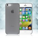 0.3mm Ultra Thin Matte Frosted Clear Soft TPU Back Case Cover Fr Apple iPhone 5C(COLOR BLACK